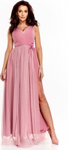 4e773a7277 Sukienka Mally z tiulu bez rękawów z dekoltem w kształcie litery v
