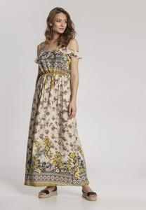 Sukienka Renee w stylu boho maxi z krótkim rękawem