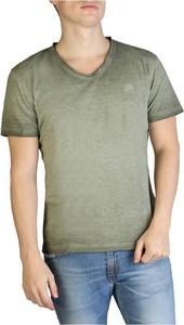 Zielony t-shirt Yes Zee w stylu casual