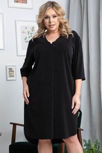 Sukienka KARKO z dekoltem w kształcie litery v w stylu casual