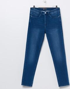 Granatowe jeansy Sinsay