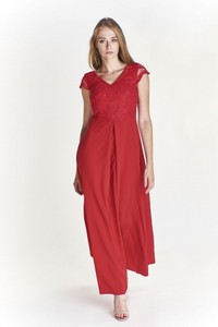 Czerwona sukienka Vegas oversize
