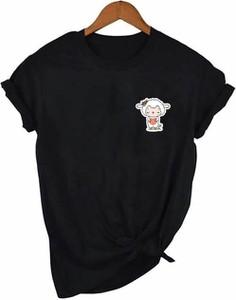 T-shirt Time For Fashion z okrągłym dekoltem z bawełny
