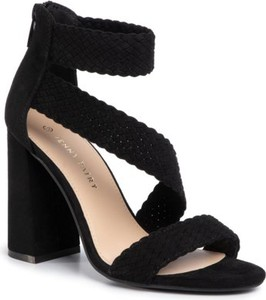 Czarne sandały Jenny Fairy na wysokim obcasie