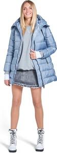 Niebieska kurtka Tiffi w stylu casual długa