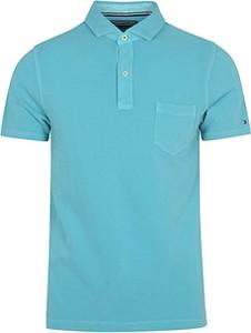 Niebieska koszulka polo Tommy Hilfiger z bawełny