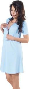 Italian Fashion Koszula ciążowa do karmienia Suri błękit