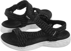 Czarne sandały Kappa z płaską podeszwą
