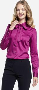 Fioletowa koszula Lambert z długim rękawem z tkaniny