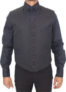 Czarna kurtka Dolce & Gabbana krótka z wełny