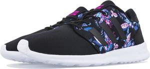 Czarne buty Adidas w street stylu z płaską podeszwą