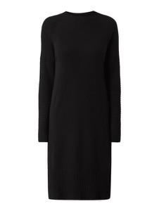 Czarna sukienka someday. z długim rękawem w stylu casual z okrągłym dekoltem