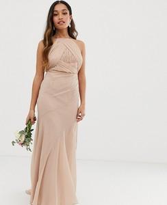 Różowa sukienka Asos gorsetowa