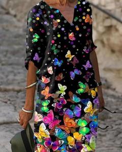 Sukienka Kendallme w stylu casual mini z dekoltem w kształcie litery v
