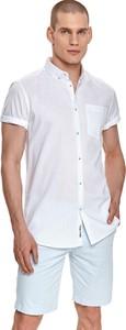 Koszula Top Secret z bawełny z kołnierzykiem button down