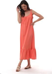 Sukienka Ooh la la na ramiączkach maxi z dekoltem w kształcie litery v