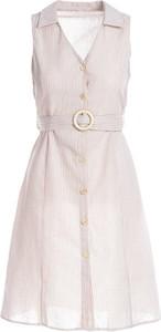 Sukienka Multu bez rękawów mini z dekoltem w kształcie litery v