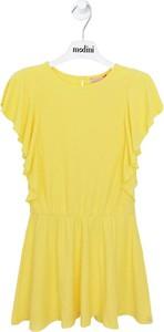 Żółta sukienka dziewczęca Lili Gaufrette