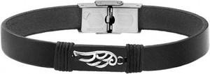 Silverado Skórzana bransoletka męska w kolorze czarnym 77-BA650B