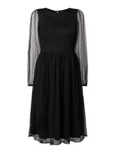 Sukienka YAS midi z szyfonu z długim rękawem