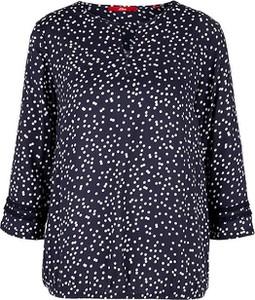Niebieska bluzka S.Oliver z długim rękawem w stylu casual