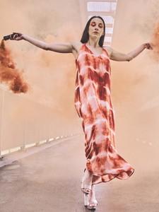 Sukienka Vila maxi z dekoltem w kształcie litery v