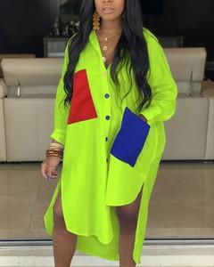 Sukienka Kendallme koszulowa z dekoltem w kształcie litery v w stylu casual