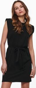 Czarna sukienka WARESHOP bez rękawów z bawełny mini