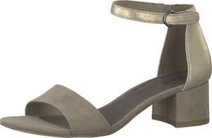 Brązowe sandały Tamaris na średnim obcasie