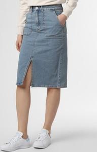 Niebieska spódnica Set z jeansu midi
