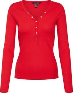 Czerwona bluzka New Look w stylu casual z długim rękawem