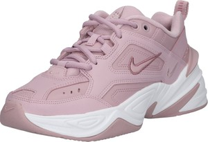 Różowe buty sportowe Nike Sportswear w młodzieżowym stylu z płaską podeszwą ze skóry