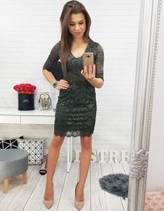 Sukienka Dstreet midi z długim rękawem