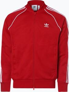 Czerwona bluza Adidas Originals w sportowym stylu