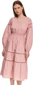 Sukienka Top Secret koszulowa midi w stylu casual