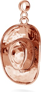 GIORRE KAPELUSZ KOWBOJSKI SREBRNY CHARMS ZAWIESZKA BEADS 925 : Kolor pokrycia srebra - Pokrycie Różowym 18K Złotem , Wariant - Beads