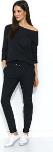 Czarne spodnie sportowe Makadamia z bawełny