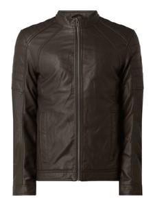 Brązowa kurtka Tom Tailor ze skóry ekologicznej