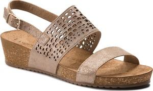 Brązowe sandały Lasocki z zamszu w stylu casual na niskim obcasie