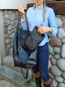 Czarna torebka TrendyTorebki ze skóry w stylu glamour