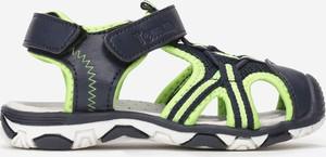 Granatowe buty dziecięce letnie born2be na rzepy