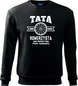 Czarna bluza TopKoszulki.pl z dzianiny