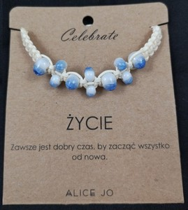 Alice Jo Bransoletka Celebrate jasno niebieska ŻYCIE