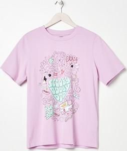 T-shirt Sinsay w młodzieżowym stylu z okrągłym dekoltem z krótkim rękawem