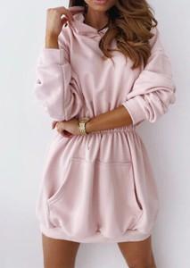 Sukienka Sandbella z długim rękawem z bawełny w stylu casual