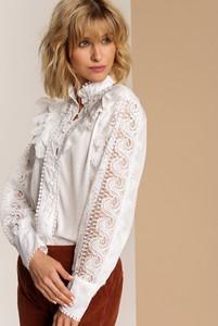 Bluzka Renee z długim rękawem z okrągłym dekoltem