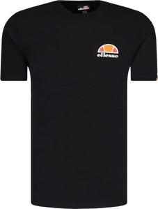 Czarny t-shirt Ellesse z krótkim rękawem