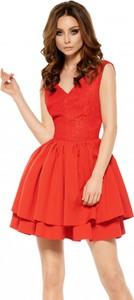 Czerwona sukienka Lemoniade mini gorsetowa z dekoltem w kształcie litery v
