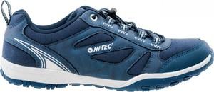 Niebieskie buty sportowe Hi-Tec z płaską podeszwą sznurowane