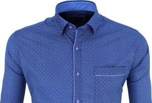 Niebieska koszula Kentazo z bawełny z klasycznym kołnierzykiem